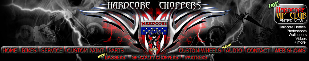 custom choppers menu